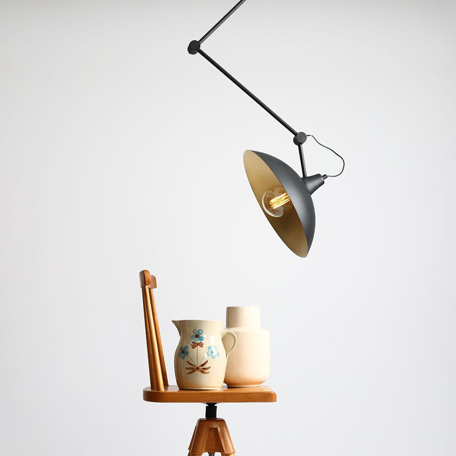 Loftlampe 808 justerbar, 1 lyskilde sort/gylden