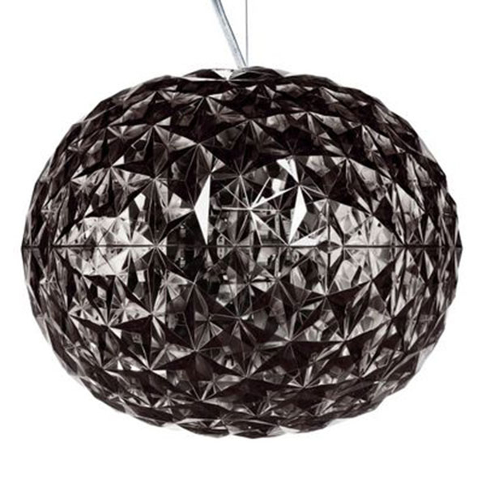 Suspension LED de designer gris fumée Planet