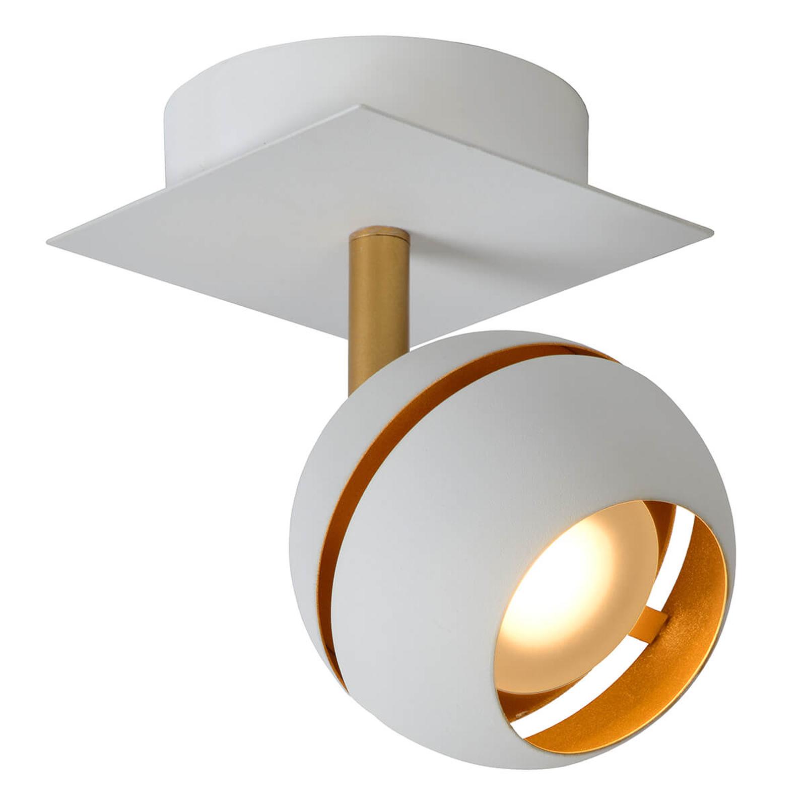 LED-Deckenstrahler Binari in Kugelform, weiß