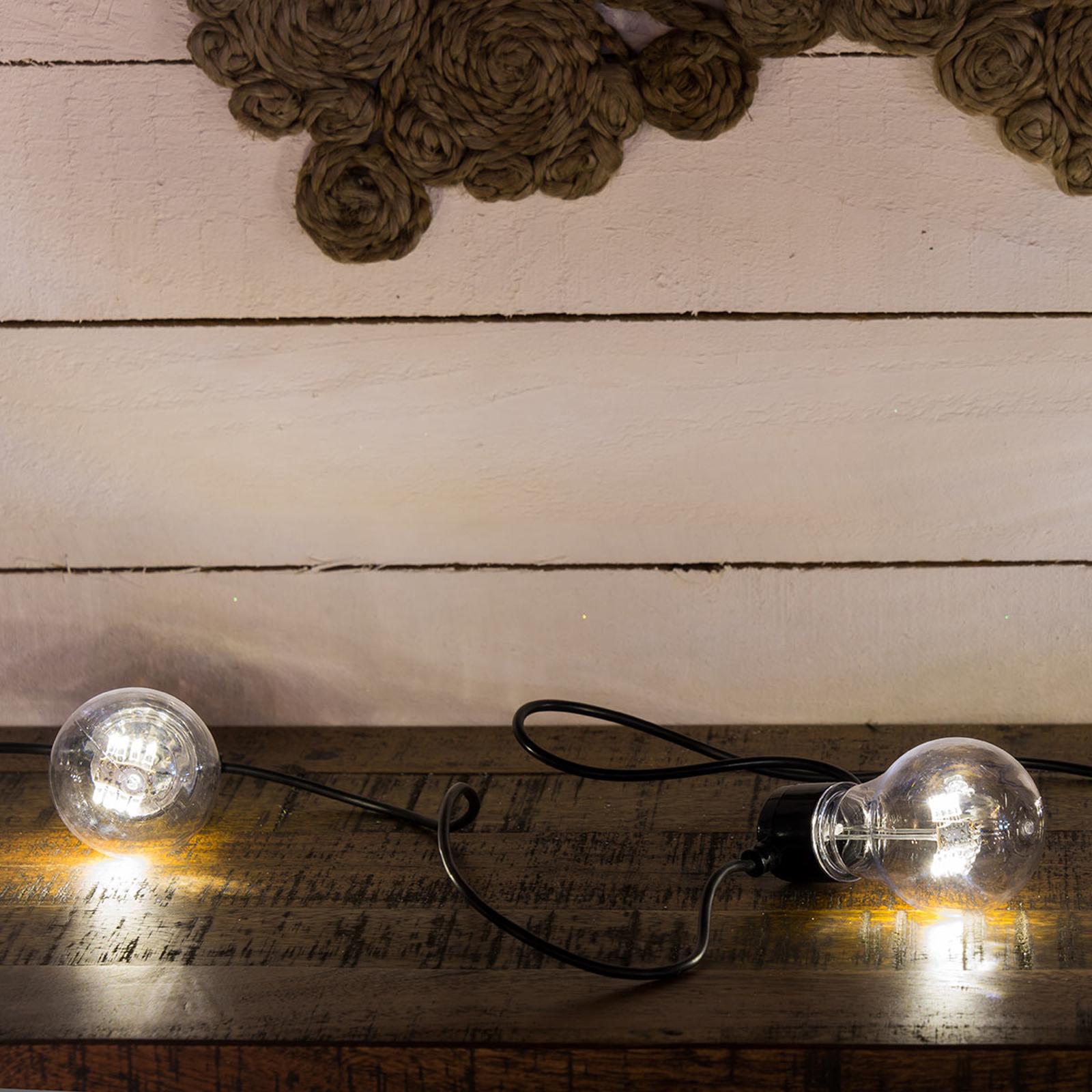 LED-Lichterkette Glühfadenoptik warmweiß 5-flg.