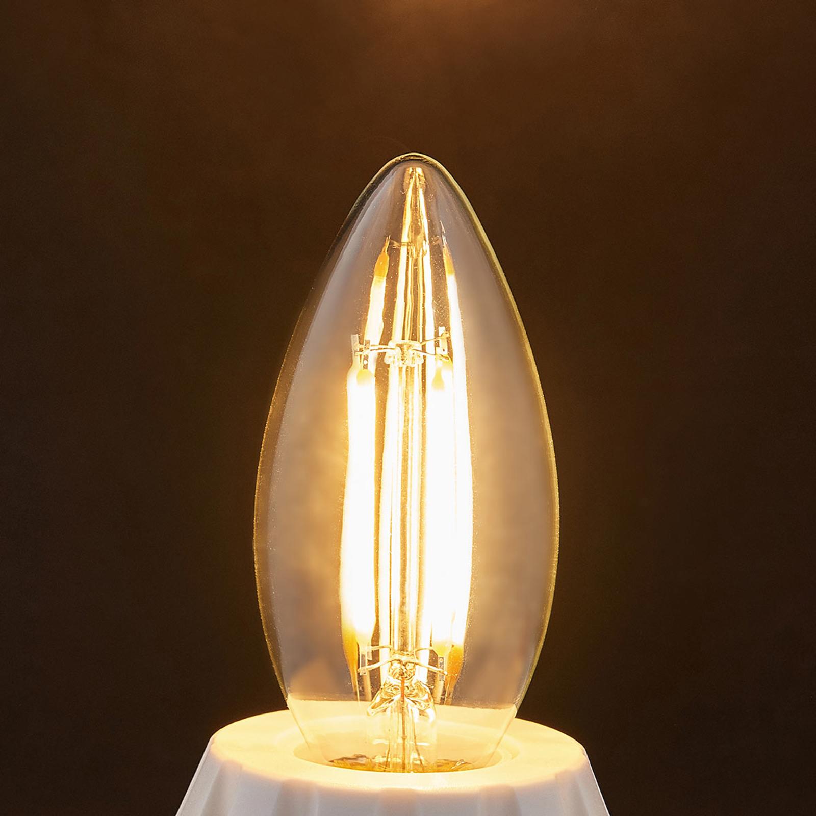 E14 LED kaarslamp gloeidraad 4W, 470Lm, 2.700 K