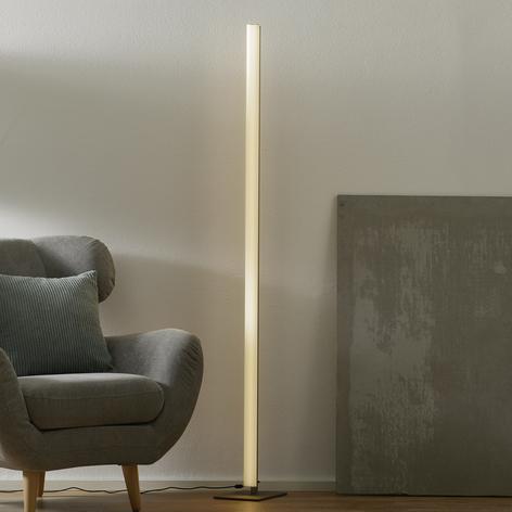 Raffinata lampada da terra LED Venta, nichel opaco