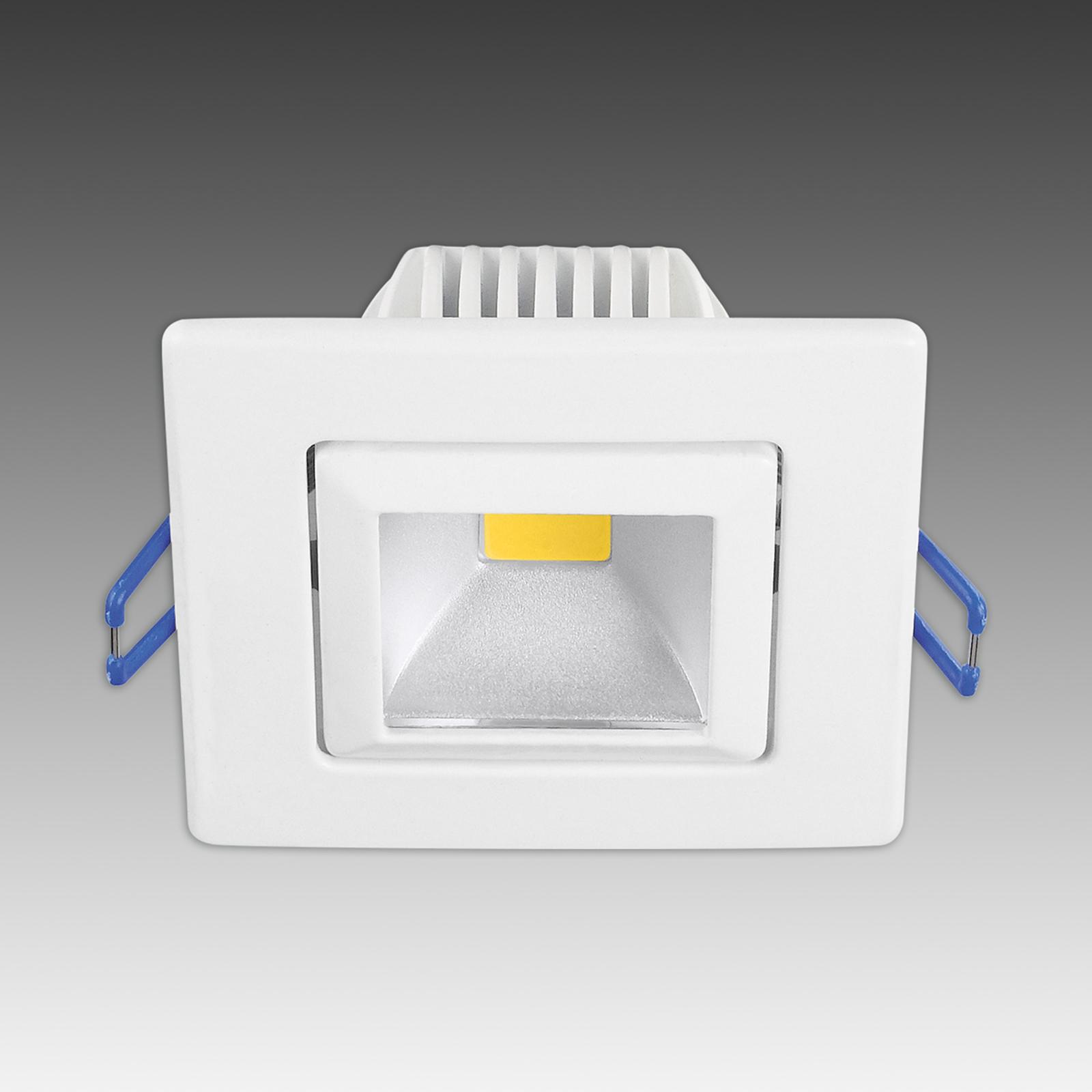 Trendy LED indbygningsspot Pound hvid