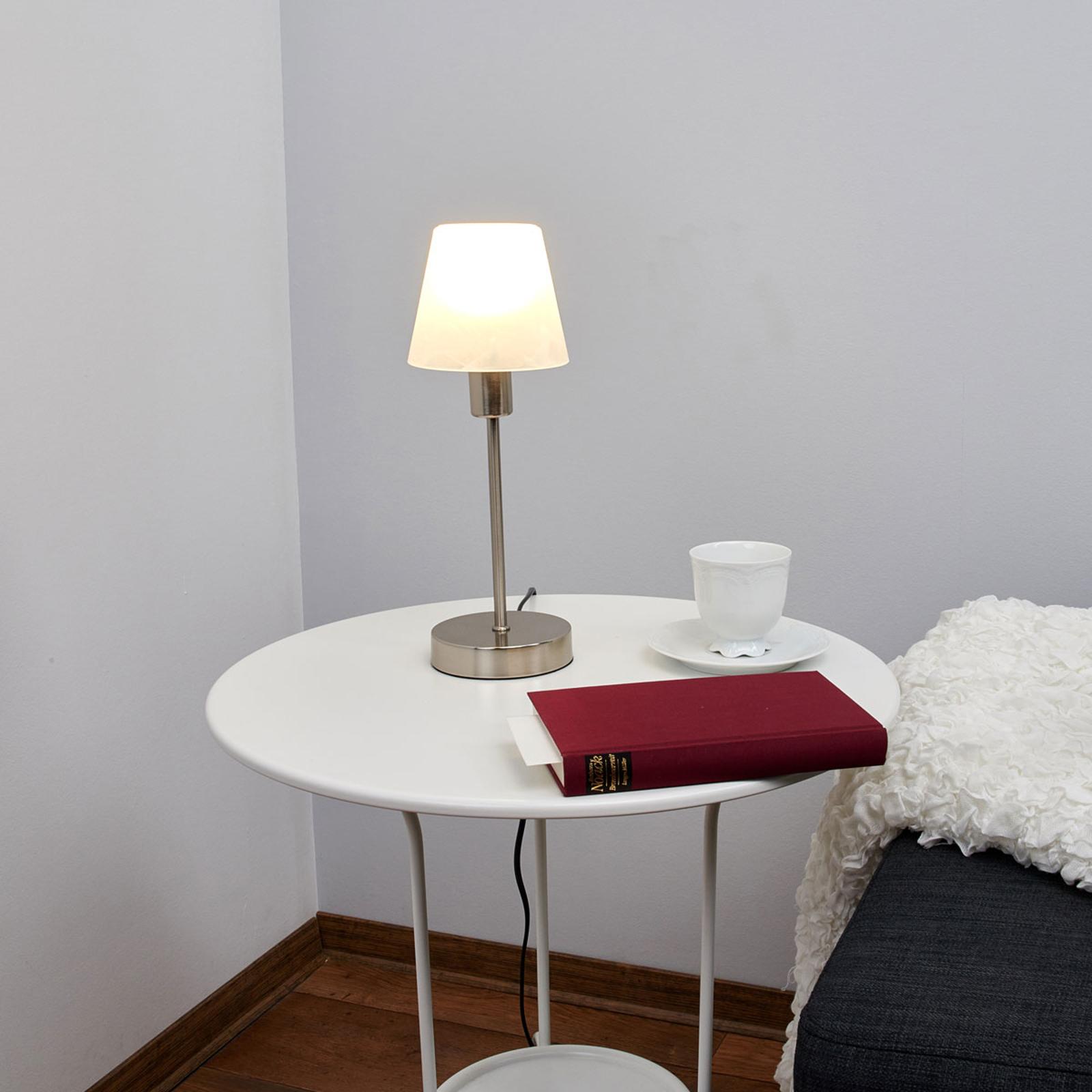 Nattduksbordslampa Avarin med LED-ljuskällor