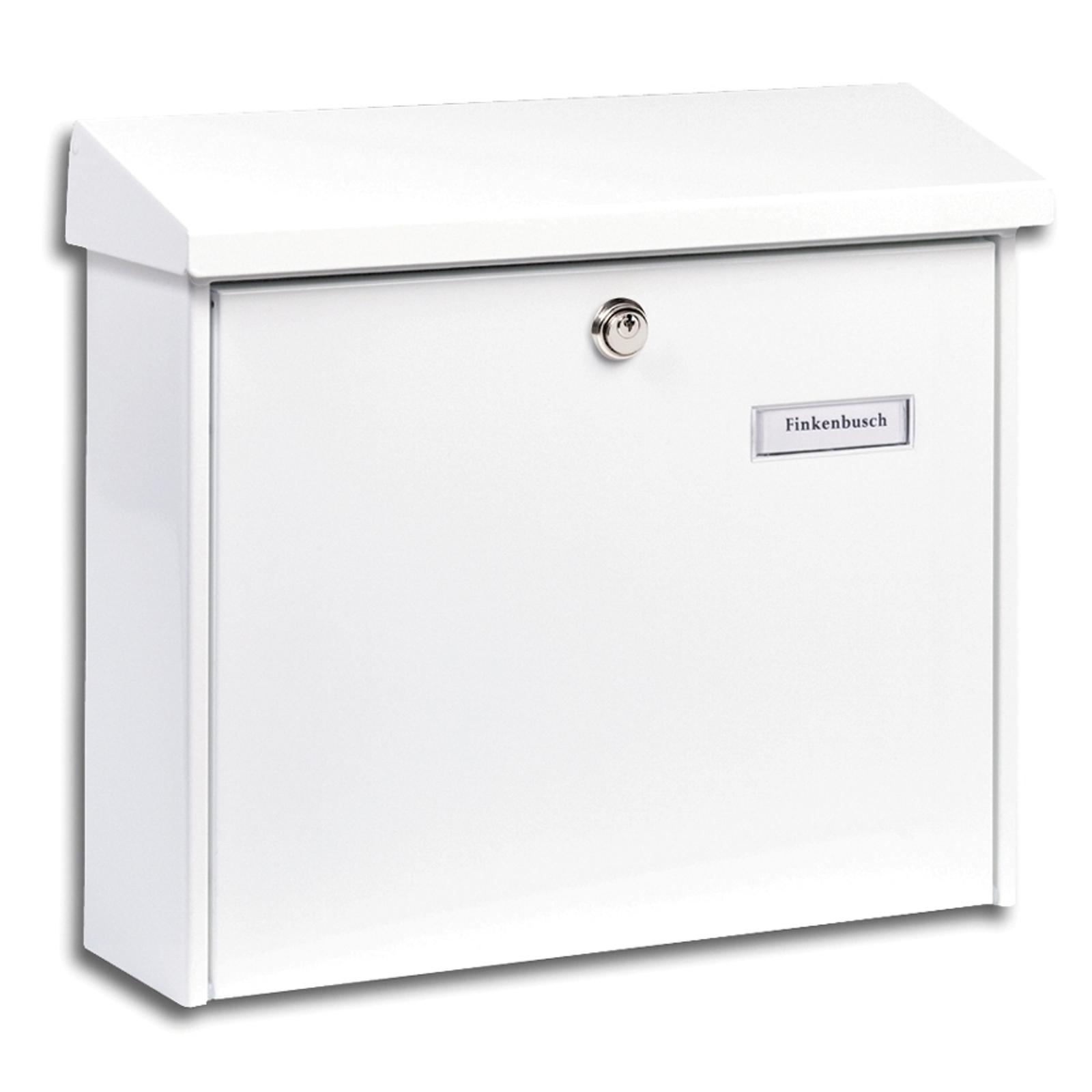 Enkel AMSTERDAM postkasse i hvitt stål