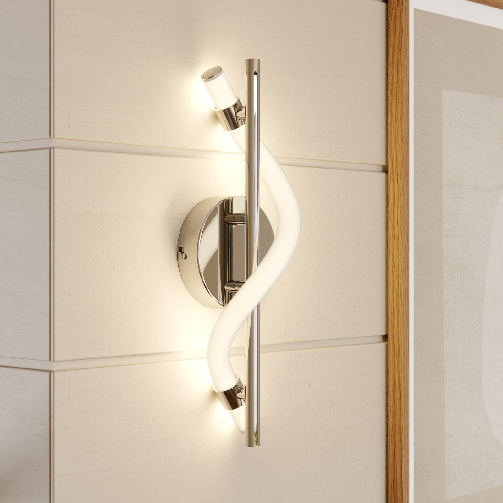 Lucande Curla LED-Wandleuchte in Chrom