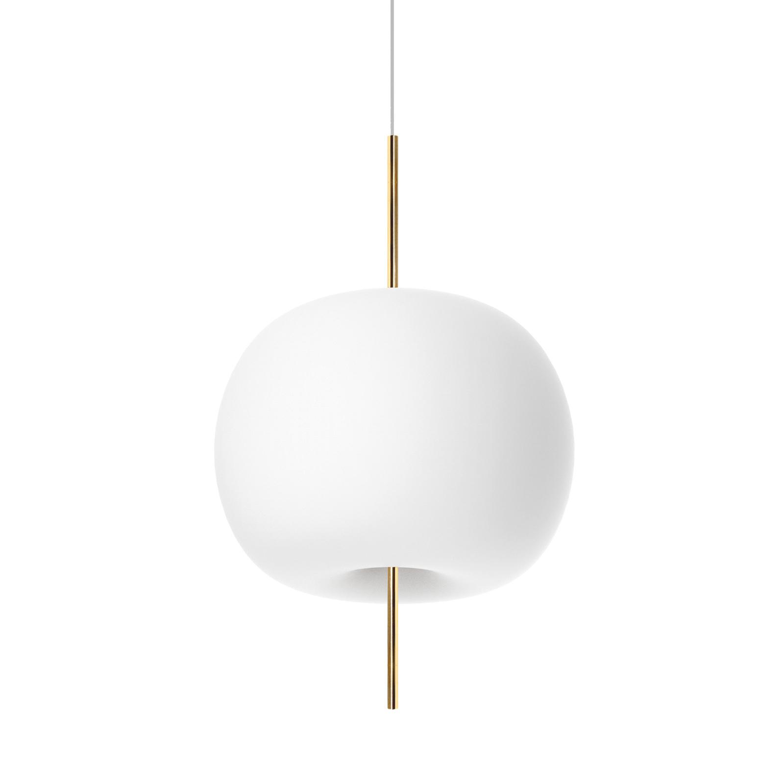 Kundalini Kushi hængelampe Ø 33 cm messing/hvid