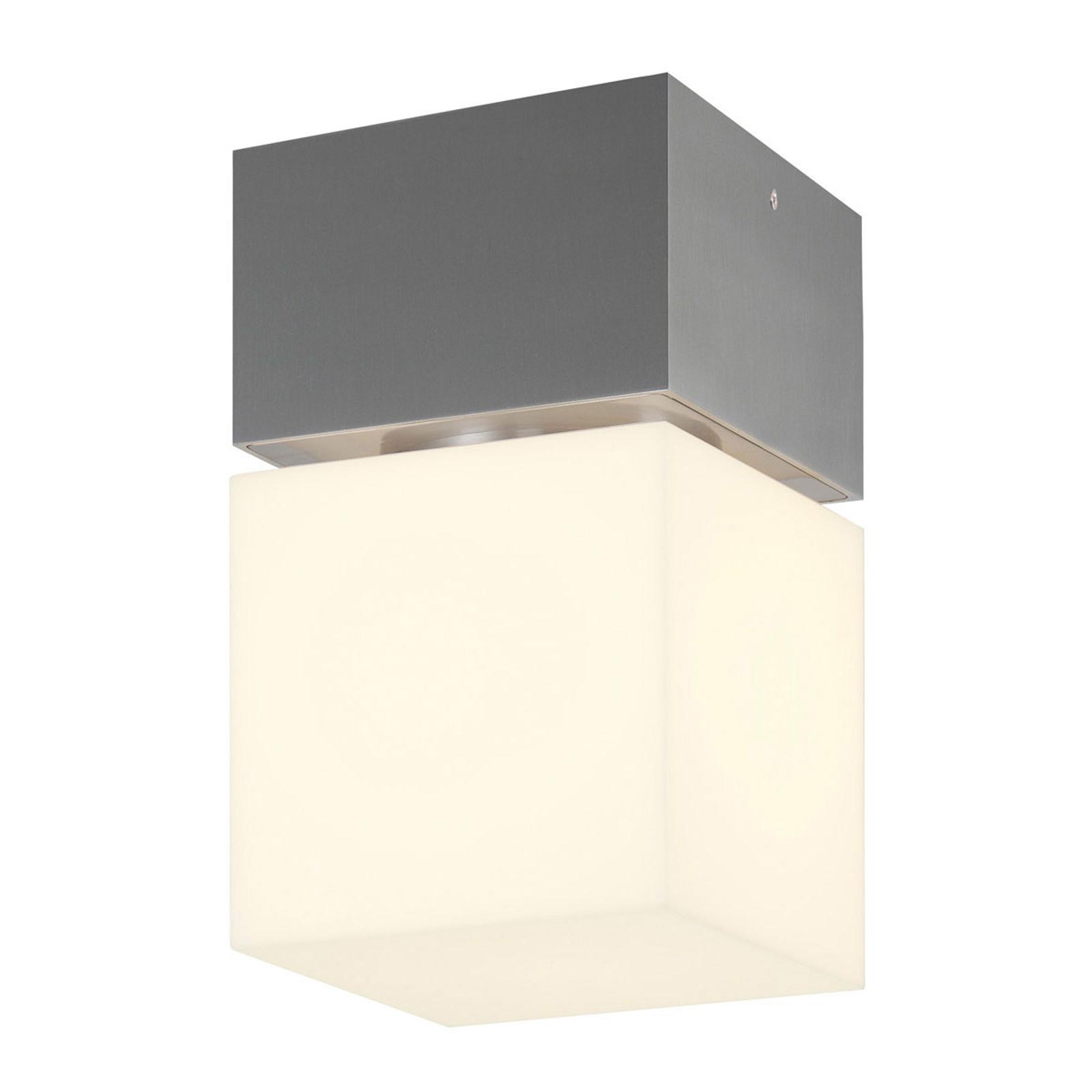 SLV Square plafonnier d'ext. LED acier inoxydable