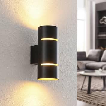Lindby Deora kinkiet LED okrągły, czarny-miedziany