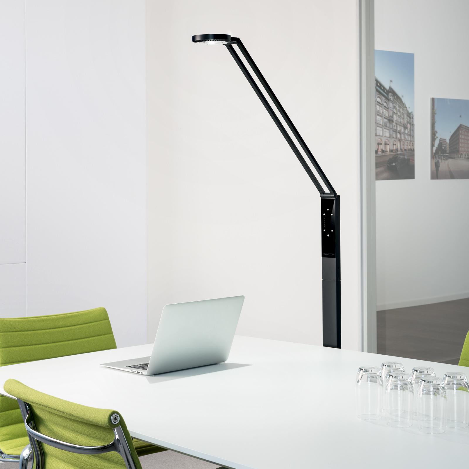 Luctra Floor Radial lampa stojąca LED czarna