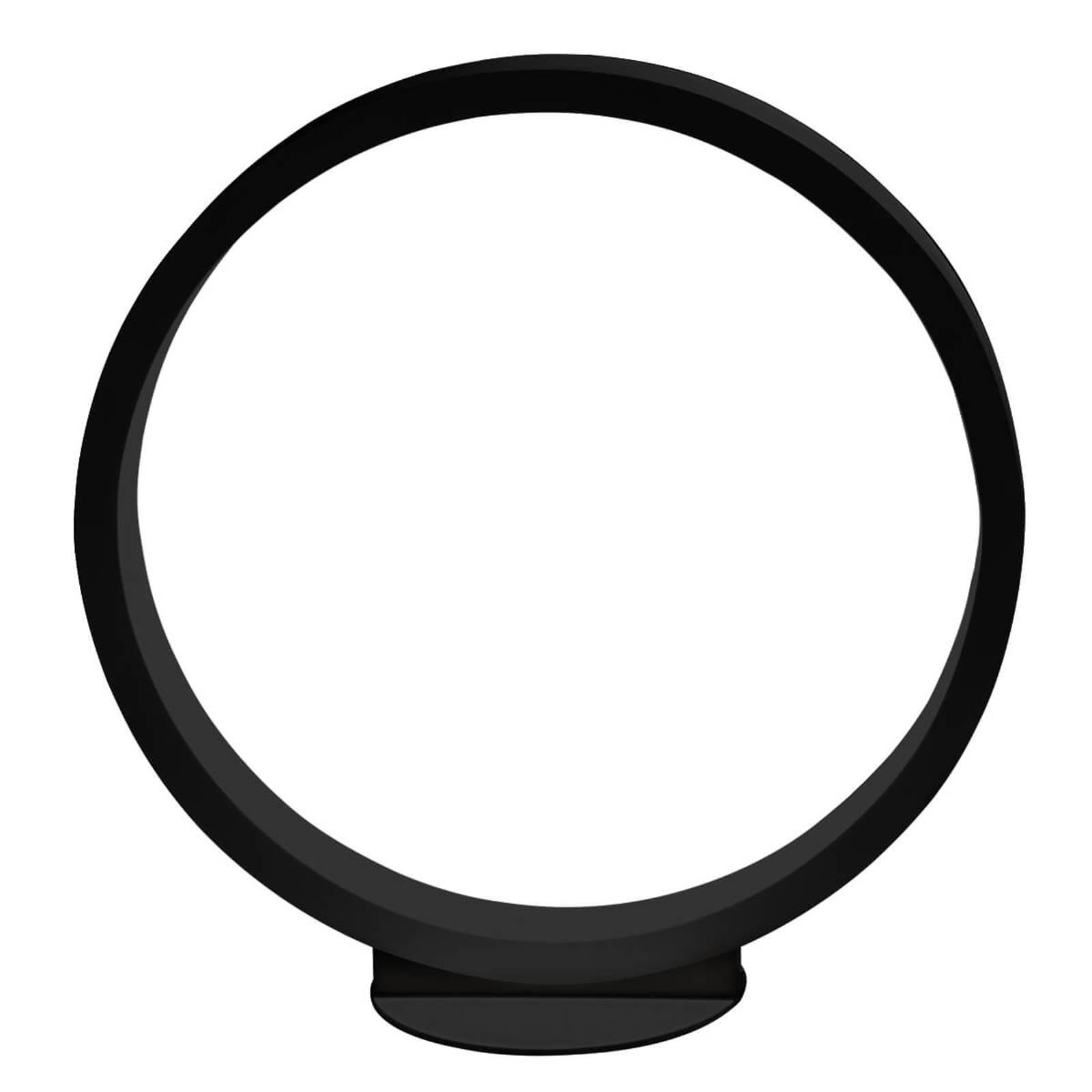 Lampe à poser LED Assolo noire, dimmable 43 cm