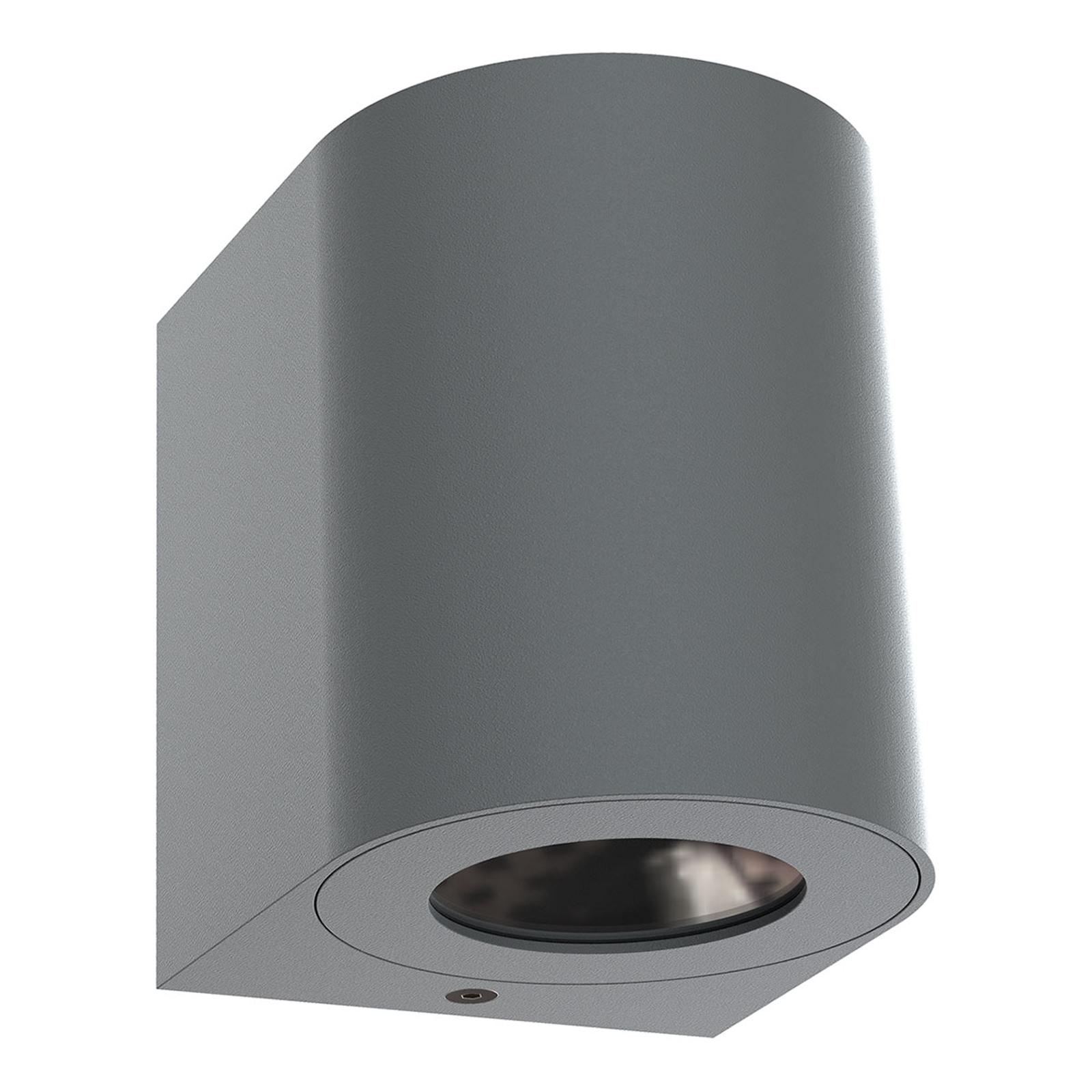 LED buitenwandlamp Canto 2, 10 cm, grijs