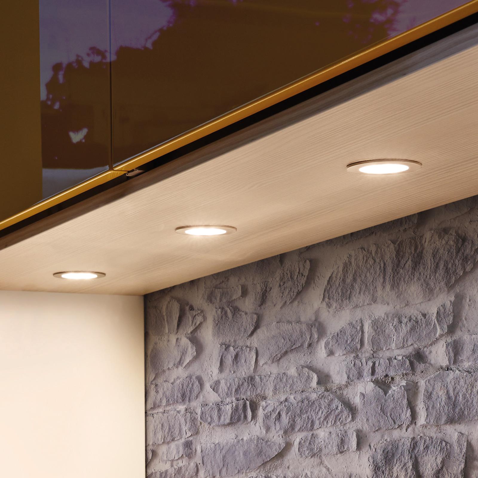 Dynamic FR 55 LED-møbelindbygningslampe, 3 stk.