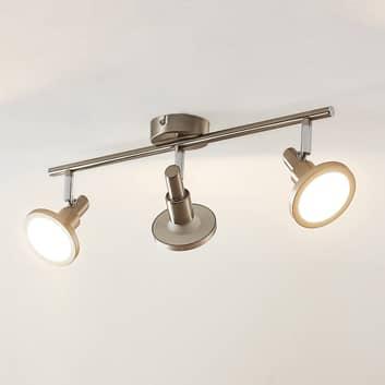 Lindby Unnur reflektor LED, 3-punktowy i podłużny