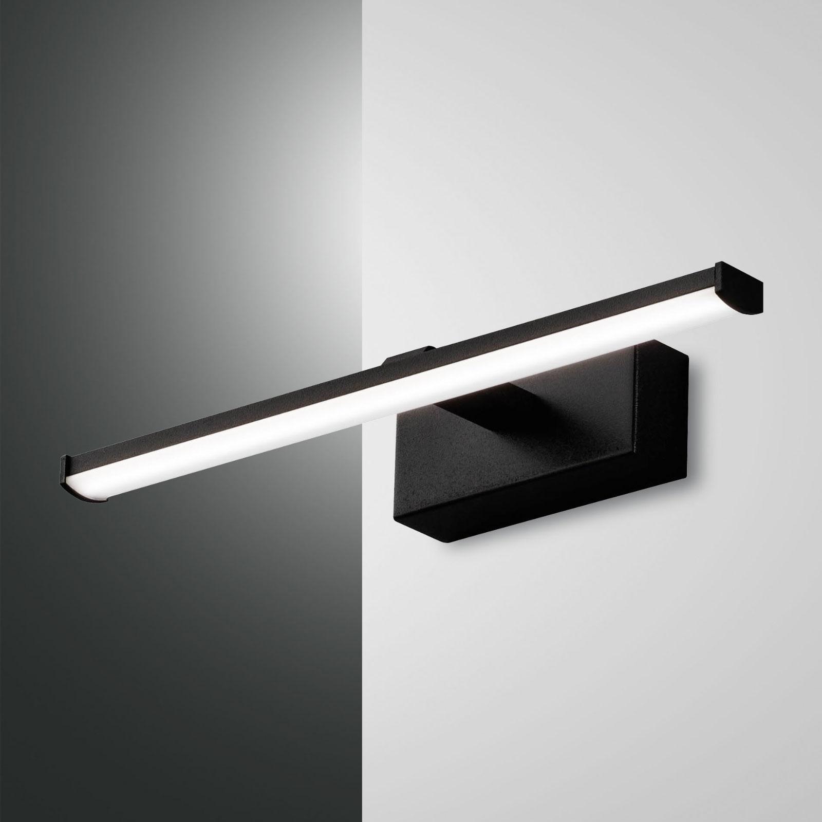 LED-vegglampe Nala, svart, bredde 30 cm