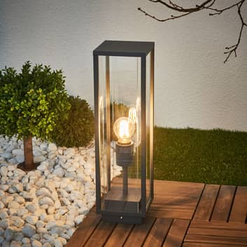 Lampe pour socle en verre Annalea, gris graphite
