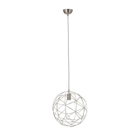 Závěsné světlo Cage z kovu, stříbrnošedé, Ø 35 cm