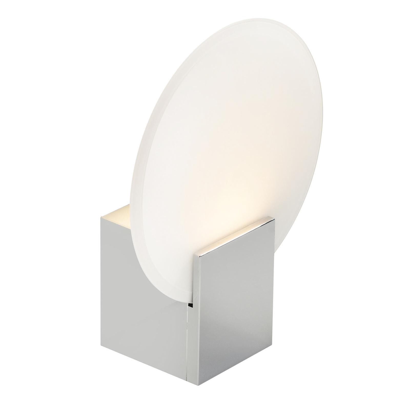 Hester LED-væglampe, IP44, krom