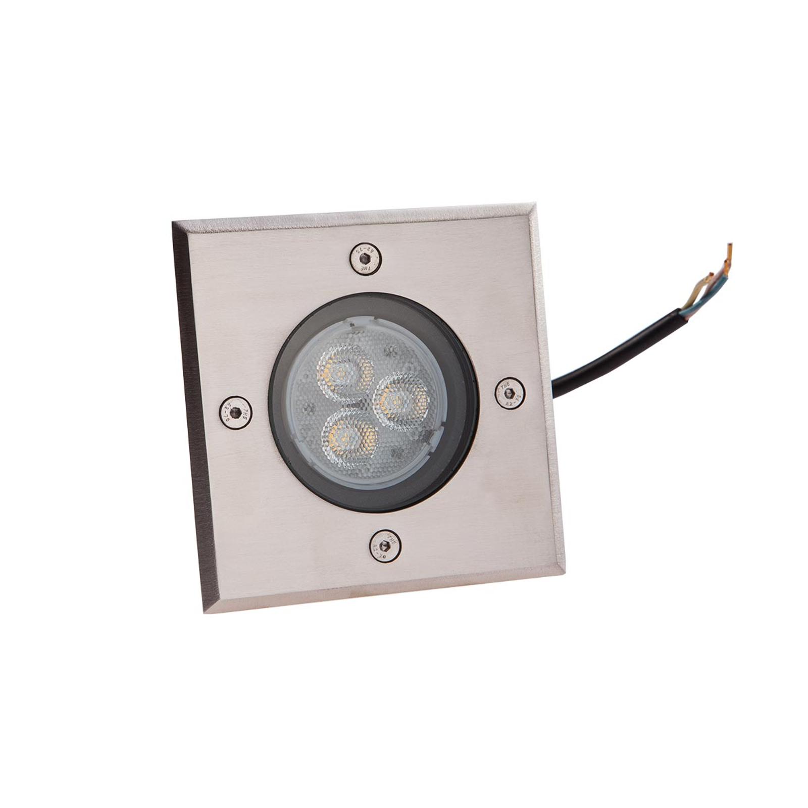 Lampada a pavimento Ava, angolare, a LED, IP67