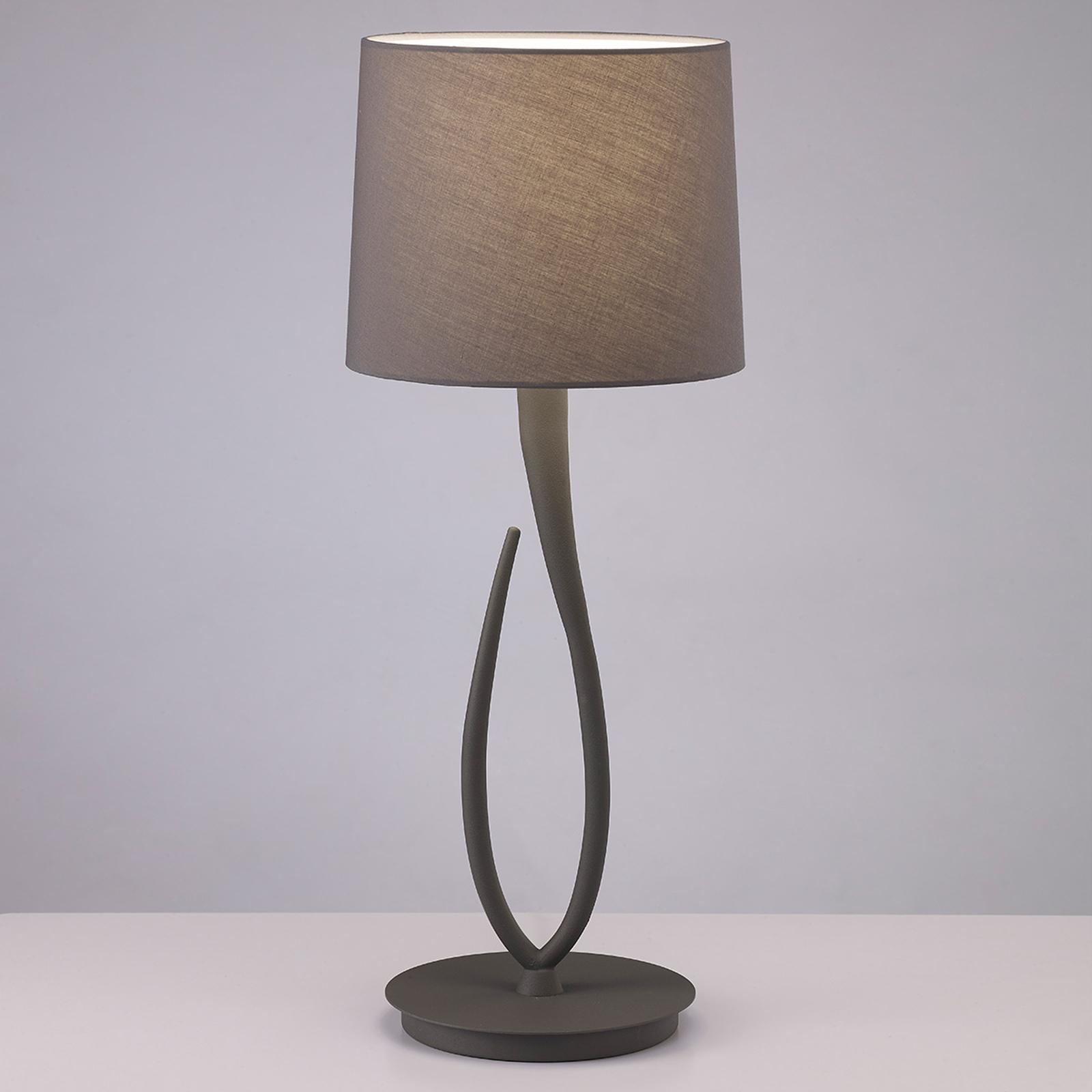 Lampada Lua da tavolo con paralume tessuto, 25 cm