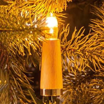 Lyskæde med riflede lys, 20 lyskilder