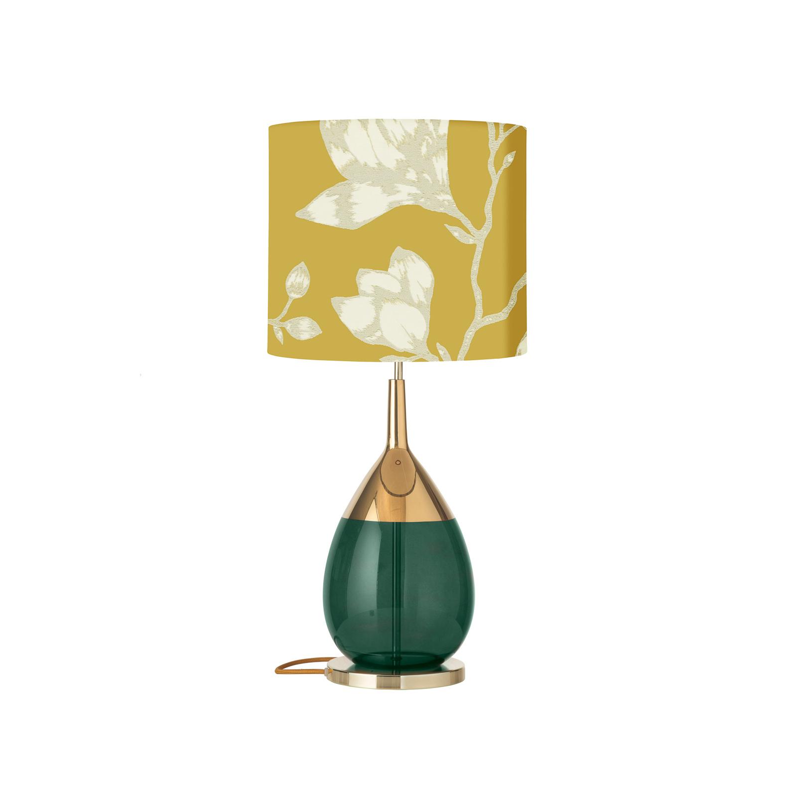 EBB & FLOW Lute Lustica bordlampe, safran/grøn