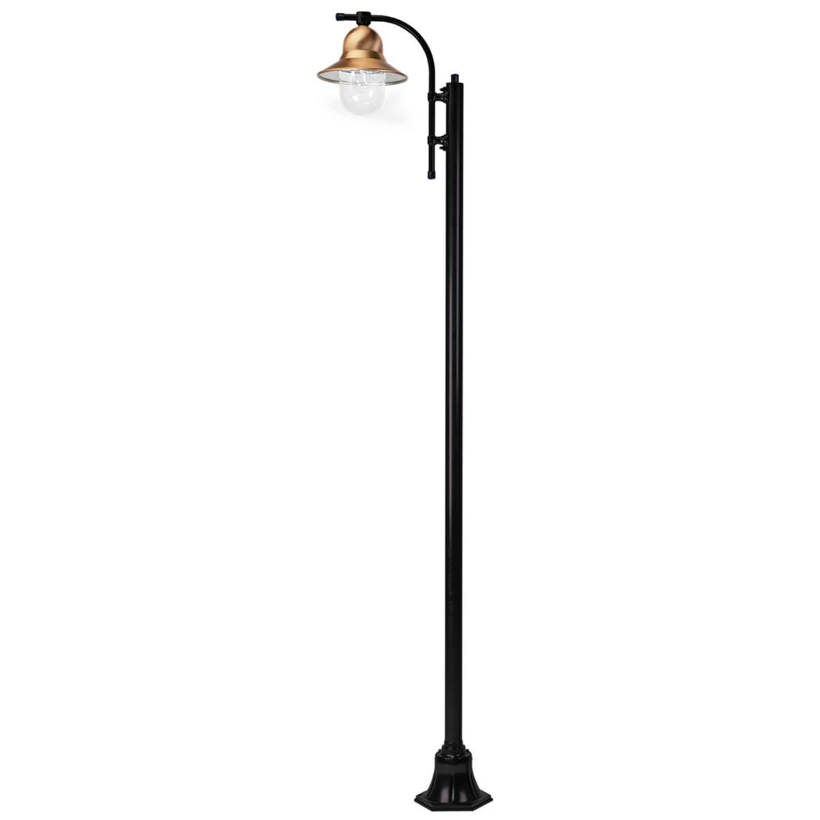 1-lamppuinen Toscane-lyhtypylväs 240 cm, musta