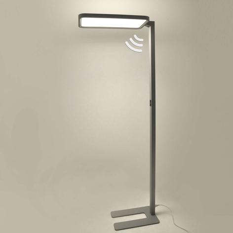 Kantoor LED vloerlamp Matthis met dimmer en sensor