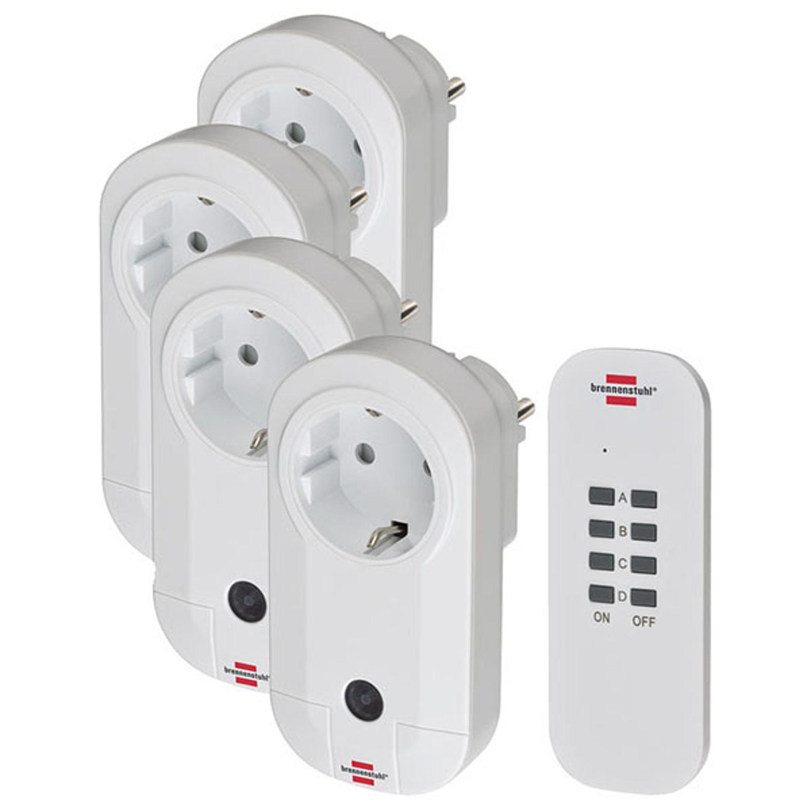 Comfort-Line RC CE1 4001 4xIP20 trådl. stikdåsesæt
