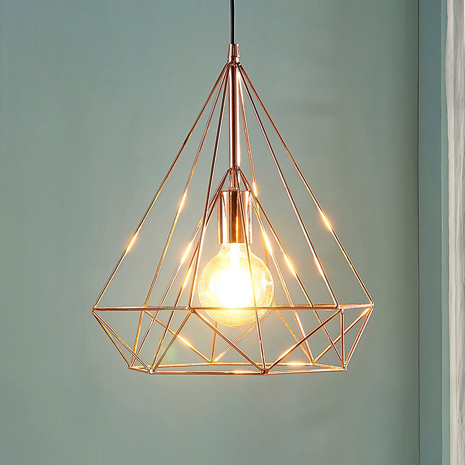 Copper-coloured cage pendant light Jossa_9621153_1