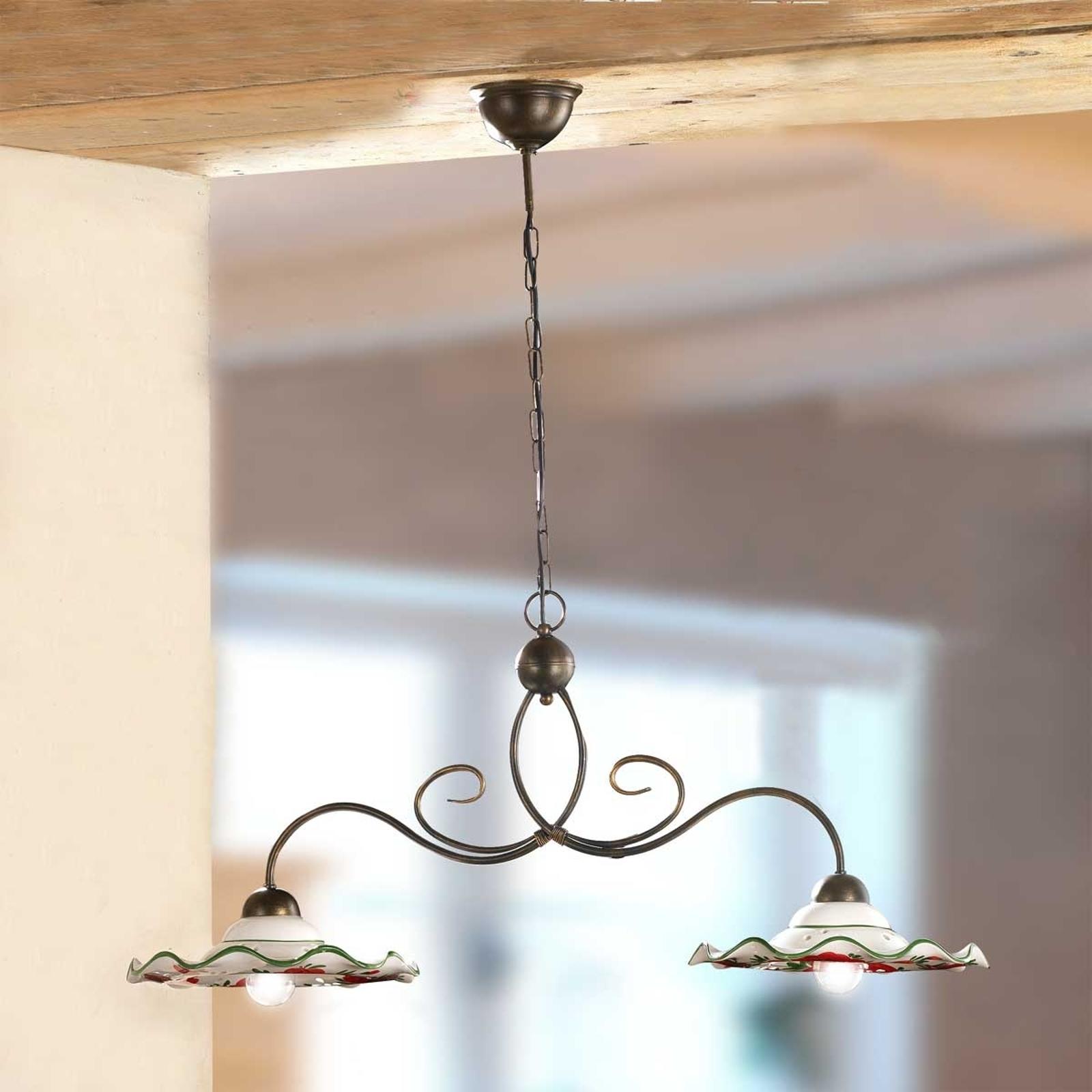 Lampada sospesa ROSOLACCI, ceramica, 2 punti luce