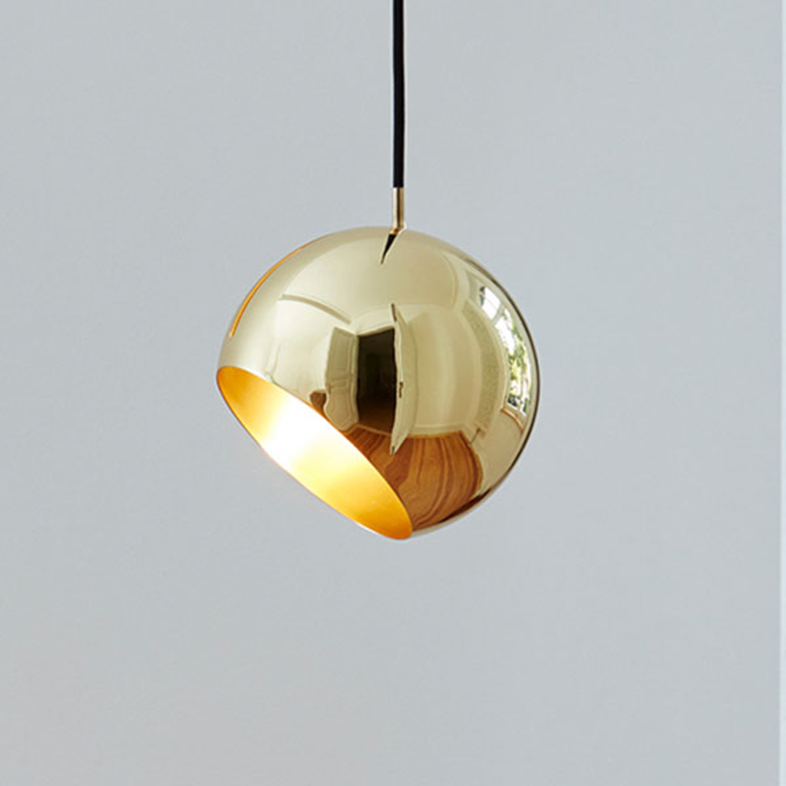 Nyta Tilt Globe Brass suspension câble 3m