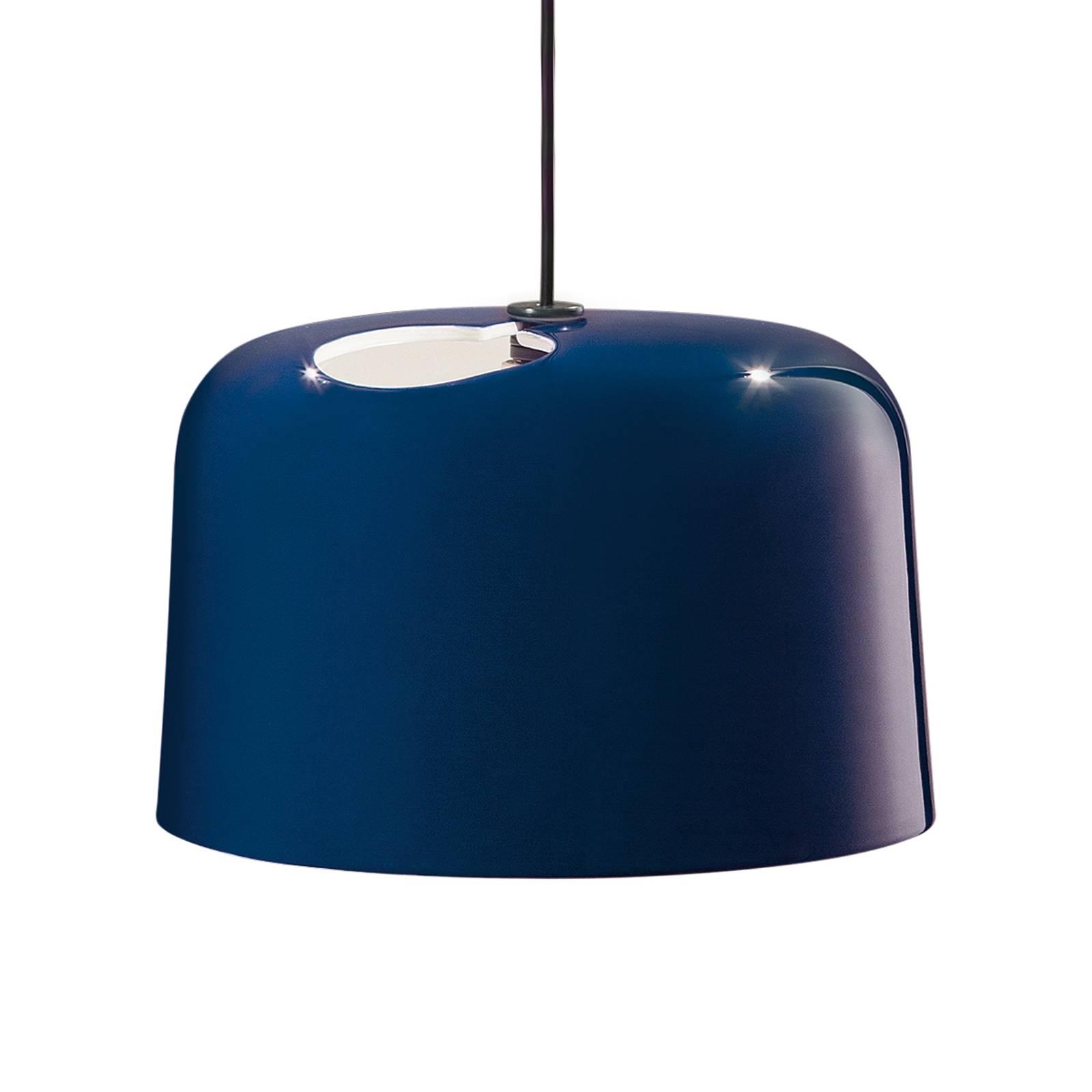 Niebieska ceramiczna lampa wisząca ADD
