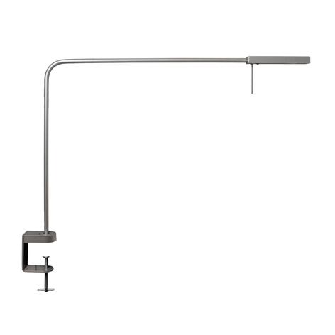LED-werkplaatslamp Ninety met klem zilvergrijs
