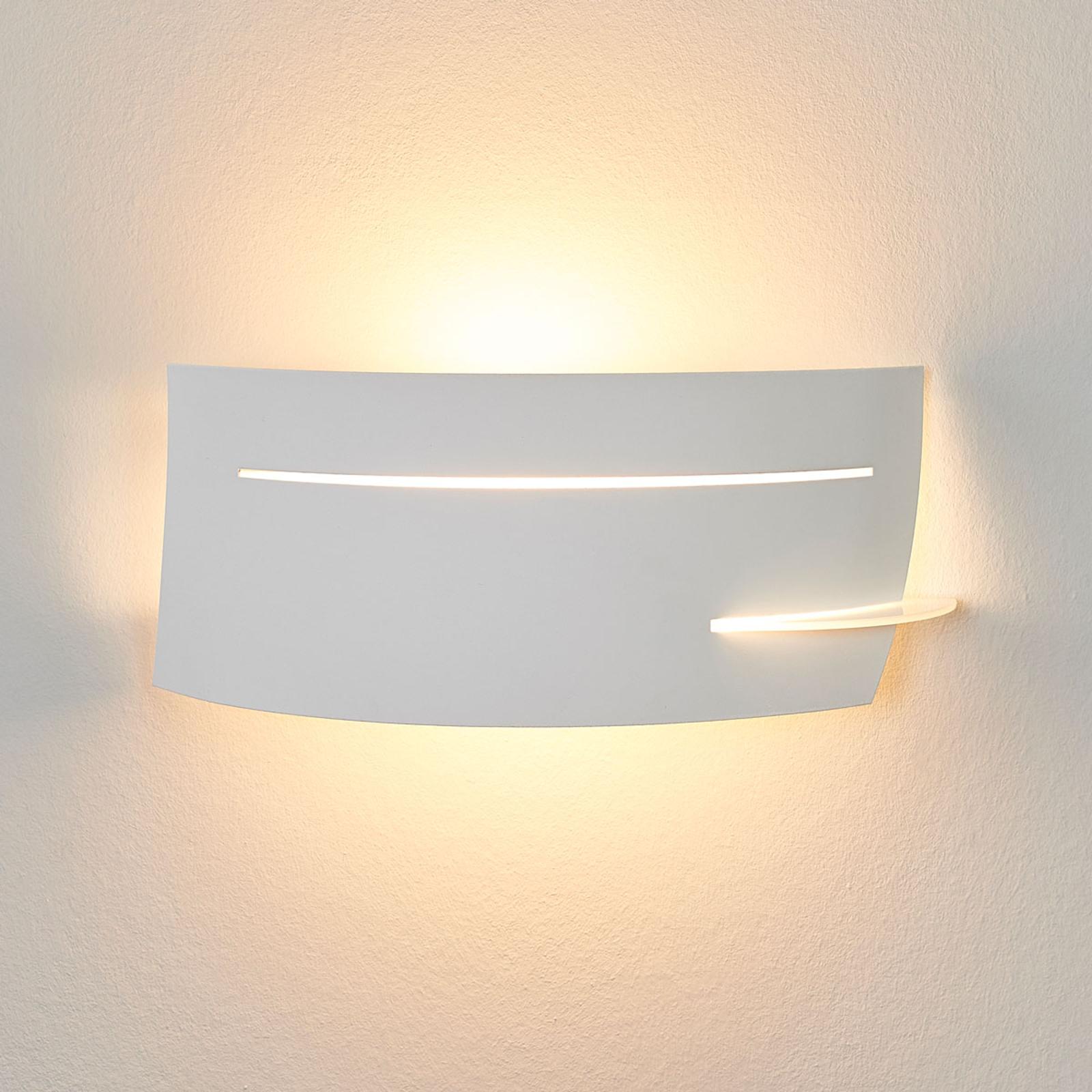 LED-Wandlampe Keyron in Weiß