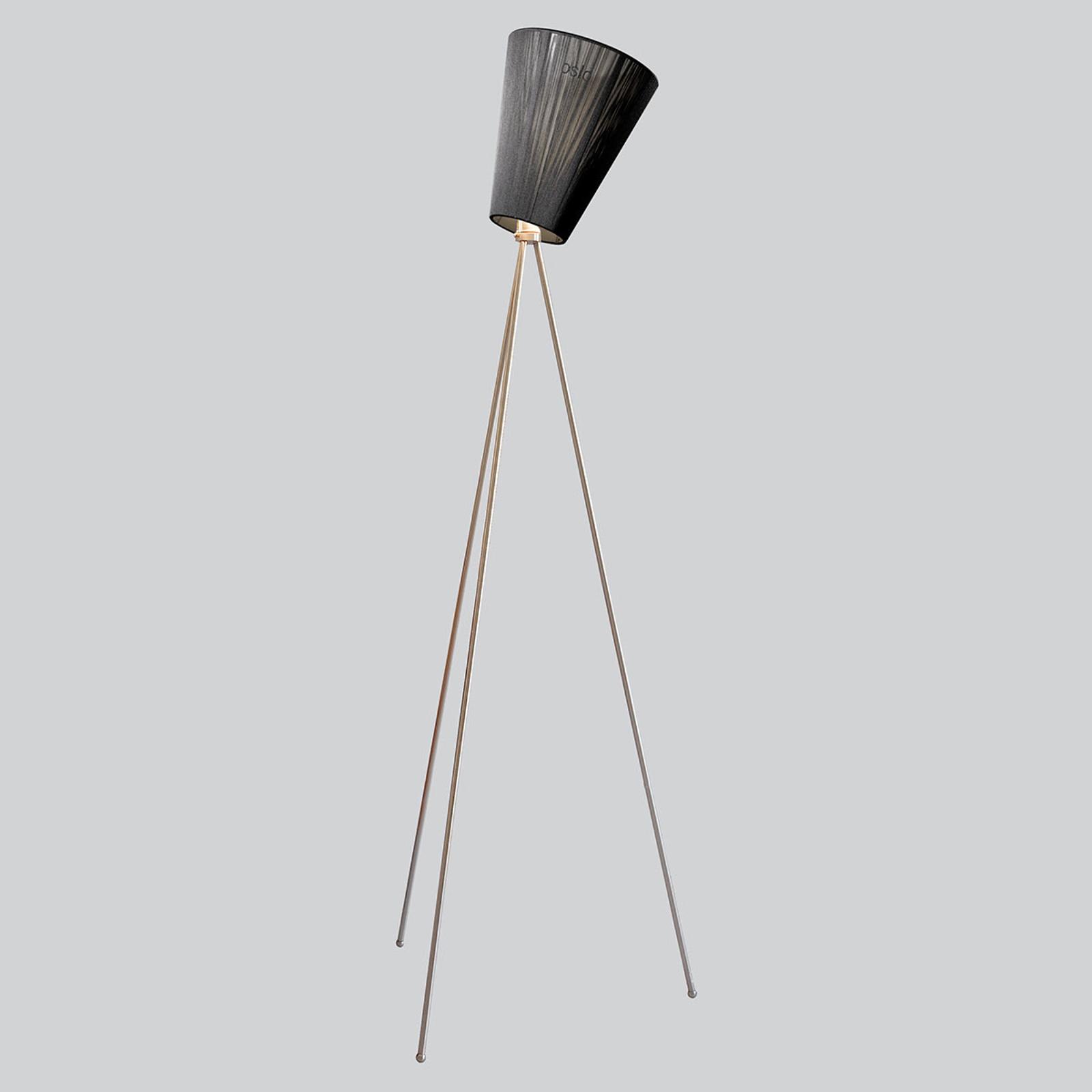Northern Oslo Wood vloerlamp staal/zwart