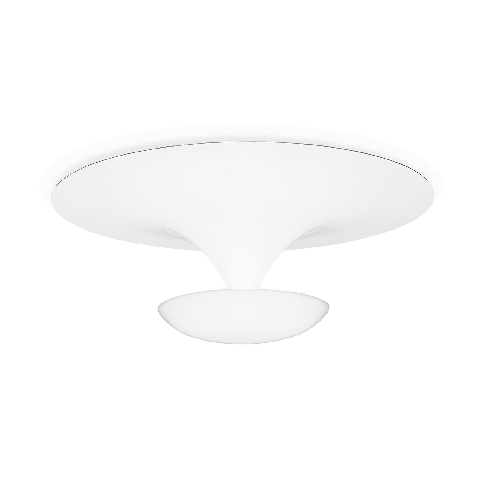Vibia Funnel - lampa sufitowa 50 cm, biała matowa