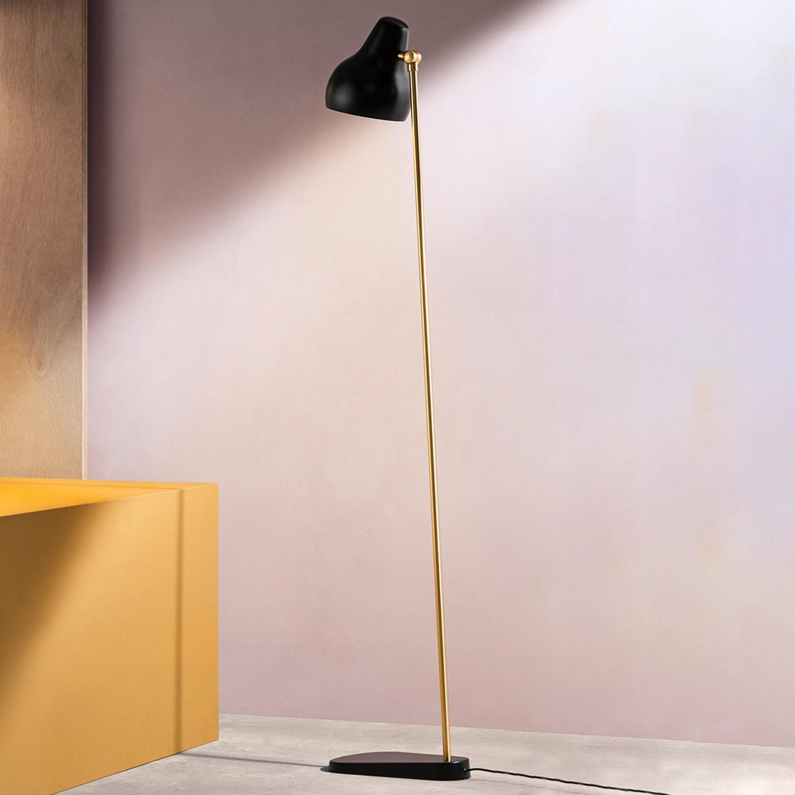 Zwarte designer LED vloerlamp VL38