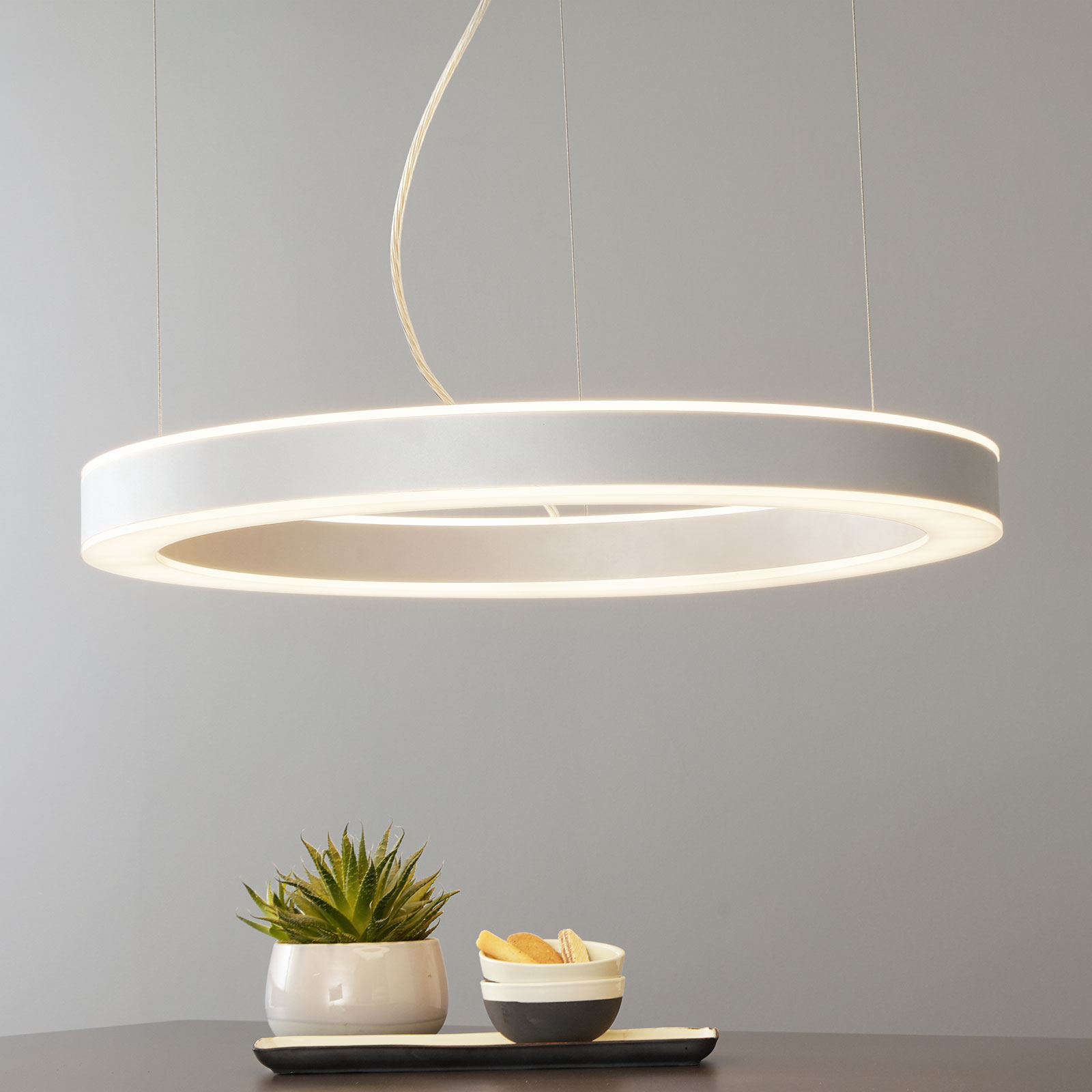 Arcchio Pietro LED-hengelampe sølv 70 cm 90 W