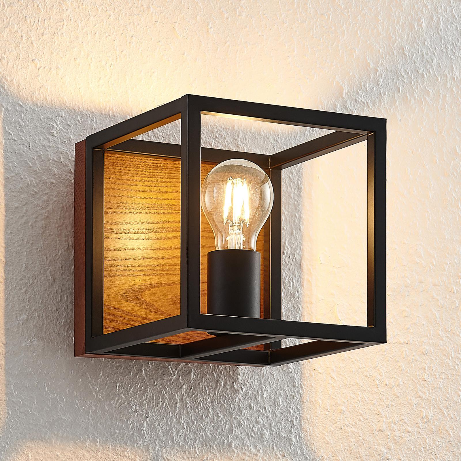 Lindby Miravi lampa ścienna z drewnianym elementem