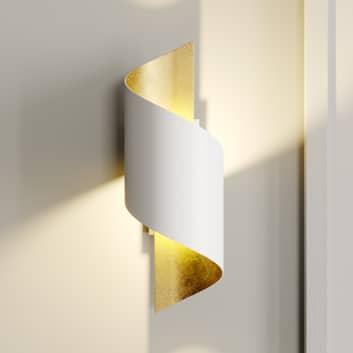 Kovové LED nástěnné světlo Desirio, bílo-zlaté