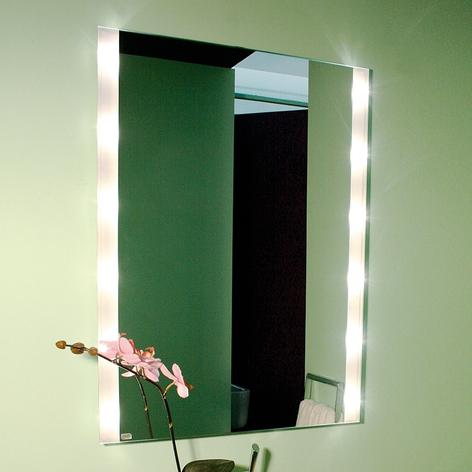 Eckiger Wandspiegel BRIGHTLIGHT, beleuchtet