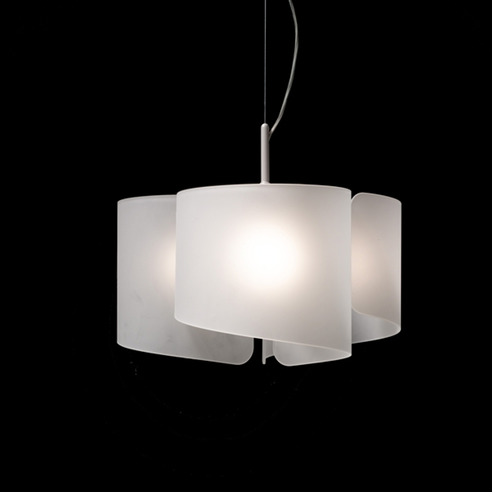 Superbe suspension à 3 lampes Papiro satin