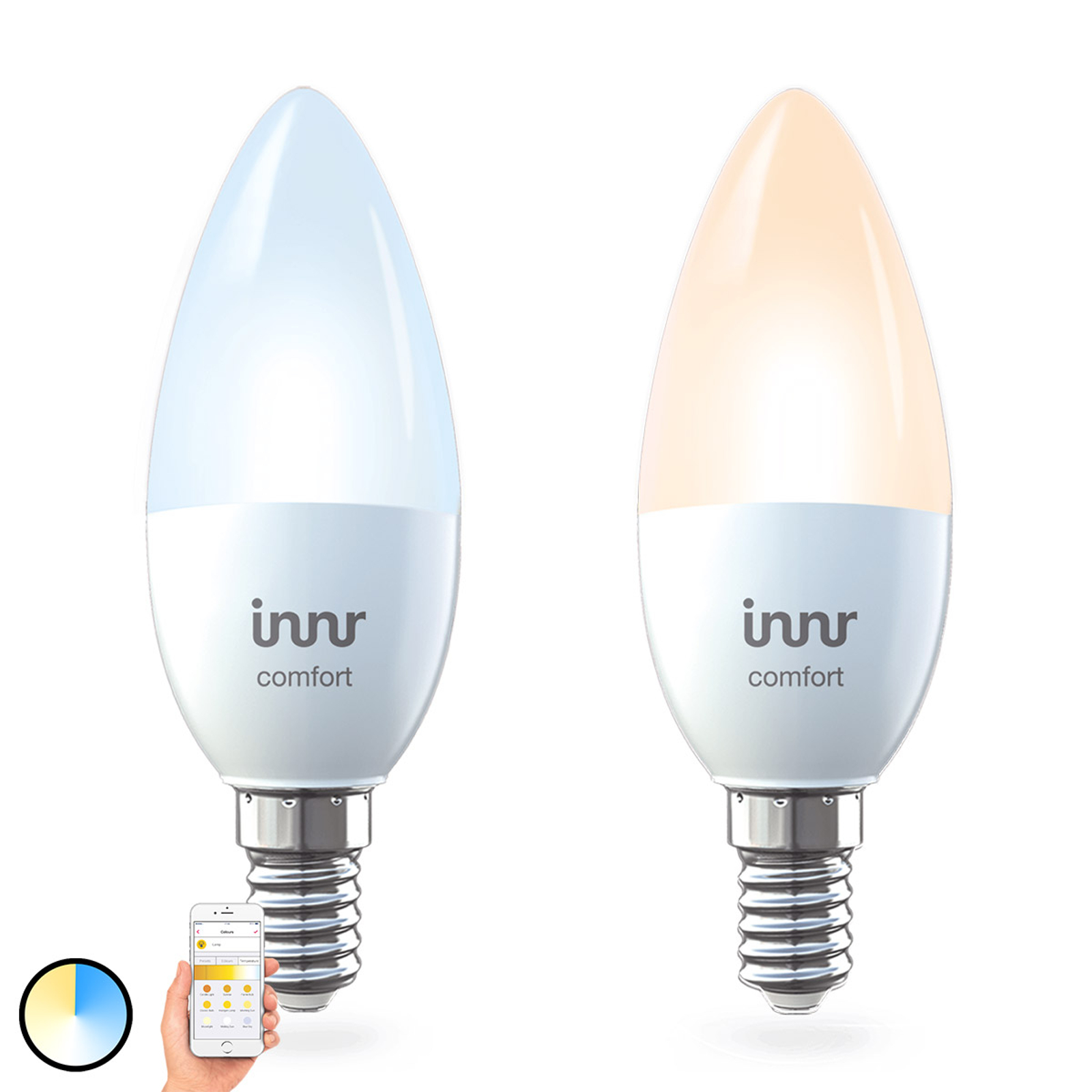 2 ampoules LED E14 5,8 W Innr Smart Candle Comfort