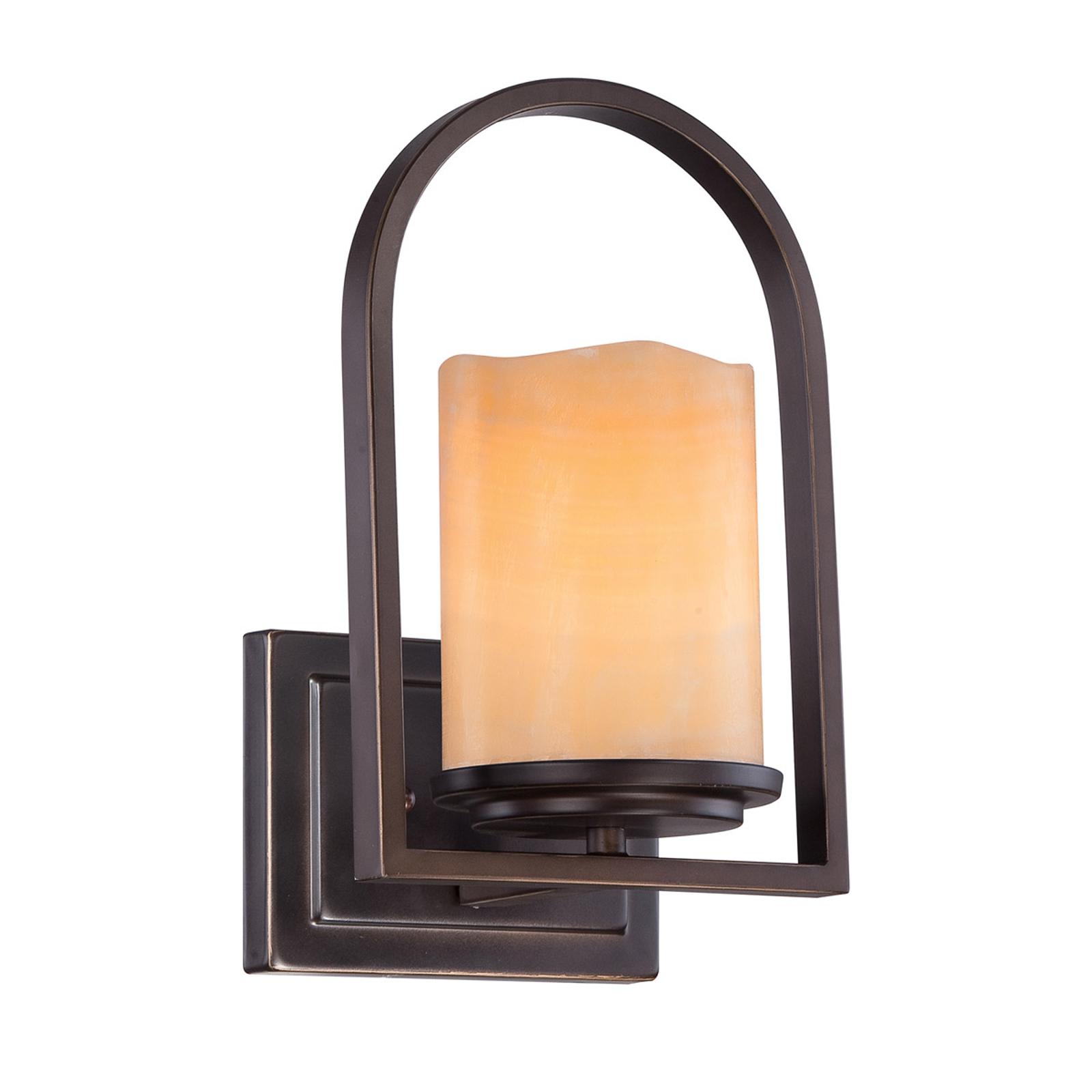 Hermosa lámpara de pared Aldora con pant. de ónyx