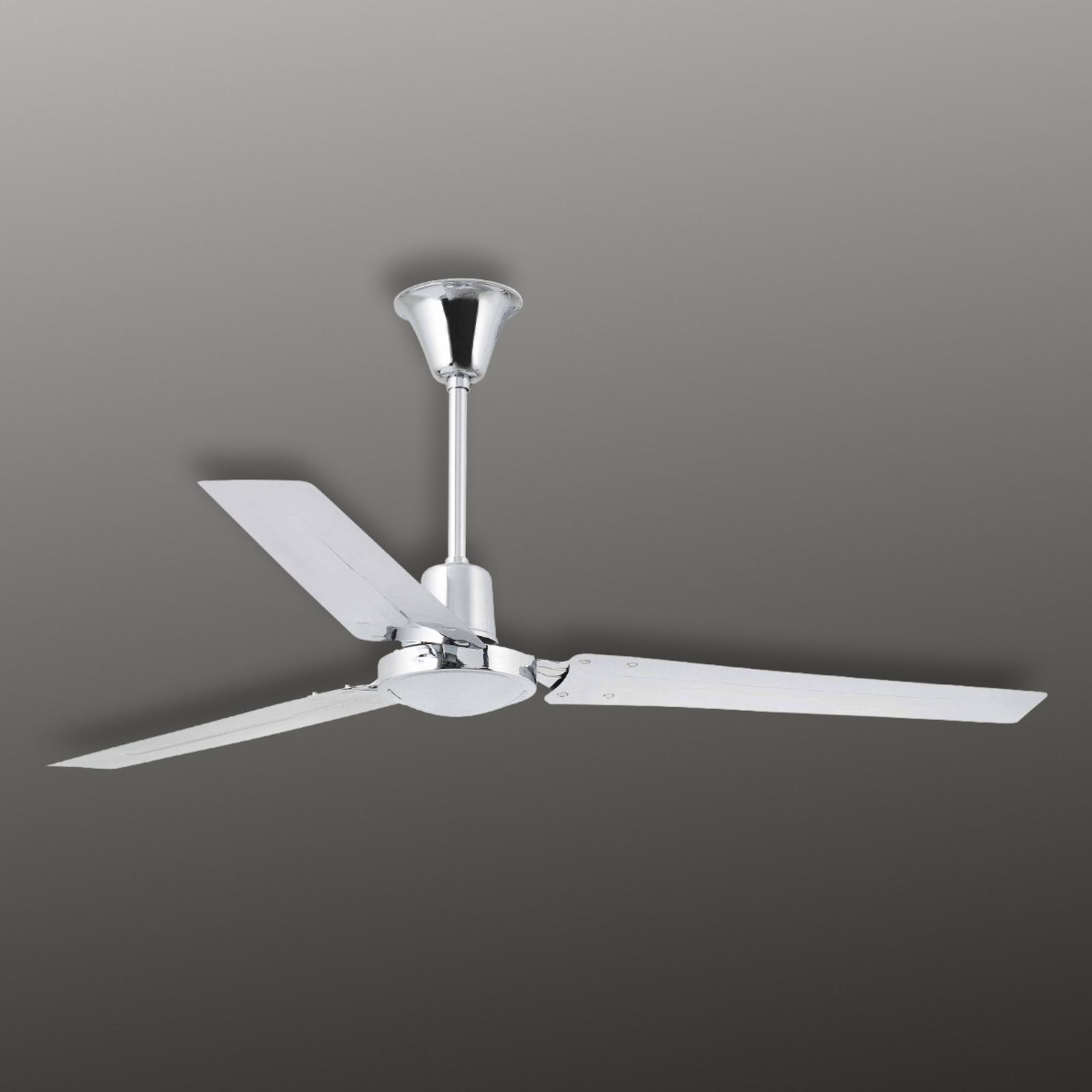 INDUS – supermoderný stropný ventilátor, chróm