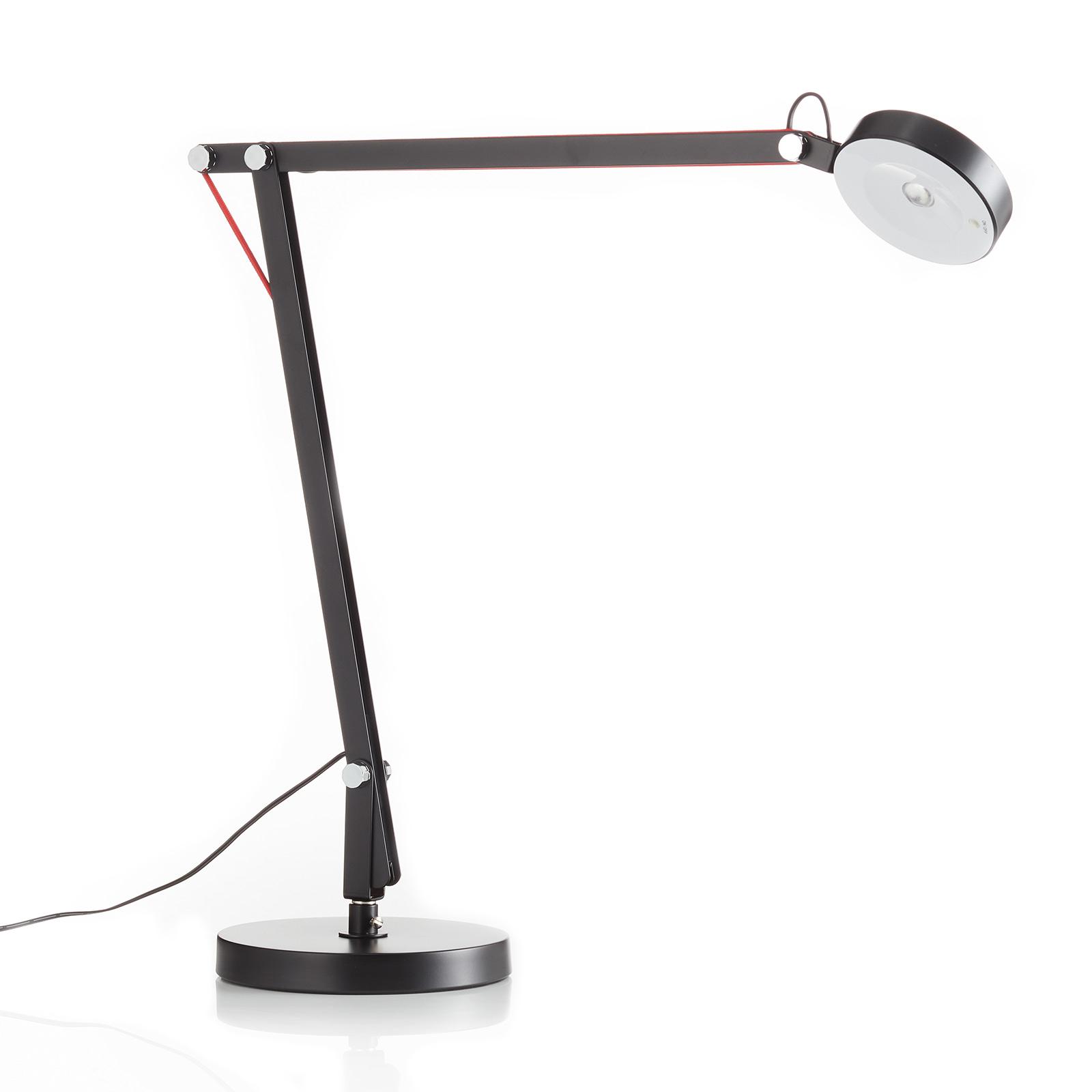Lampe de bureau LED Stina en métal, noire