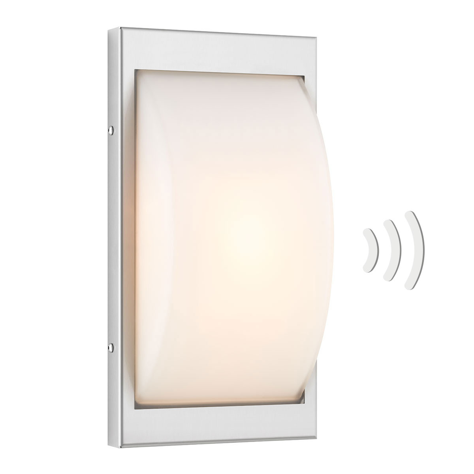 Sensor-buitenwandlamp 068SEN E27 roestvrij staal