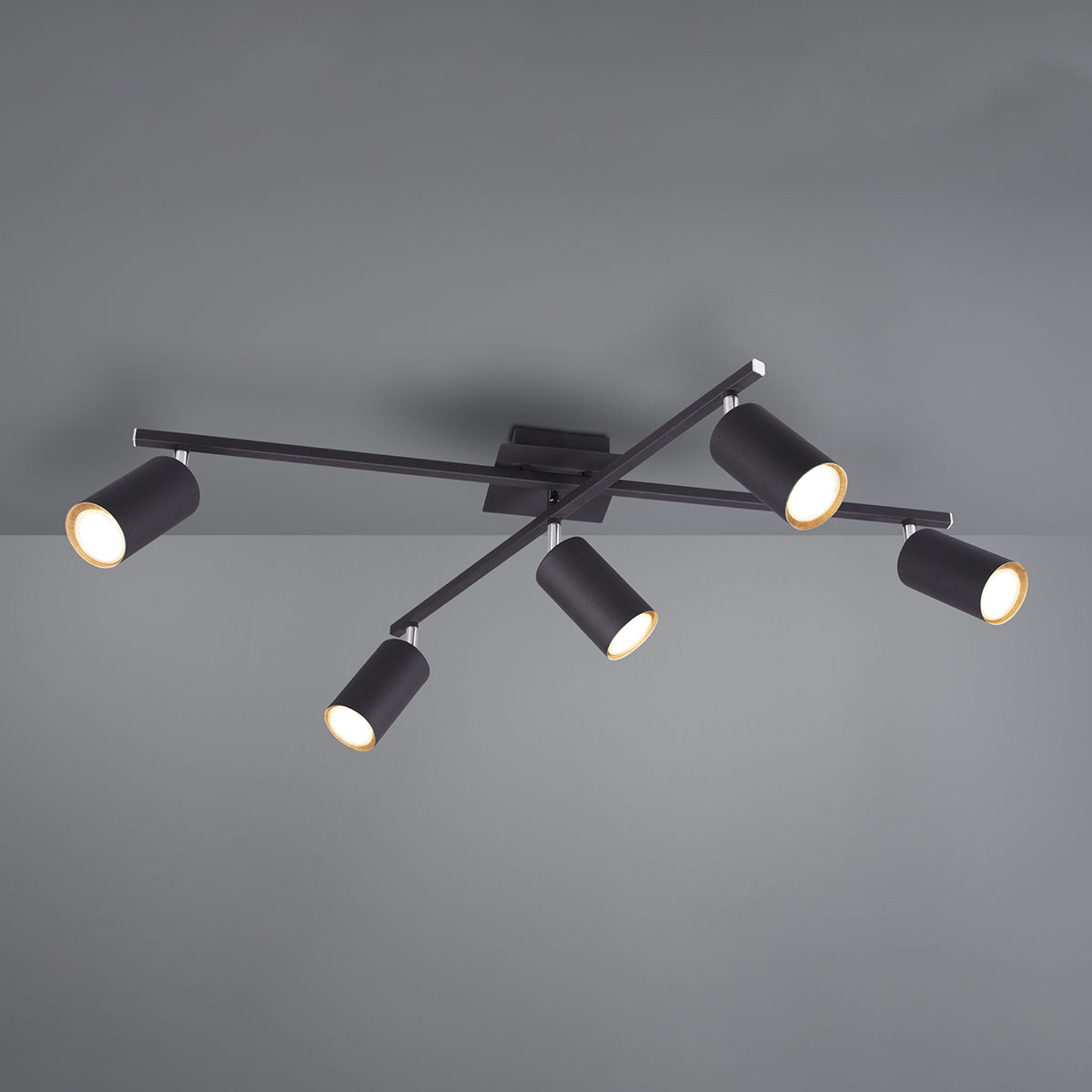 Lampa sufitowa Marley czarna 5-punktowa