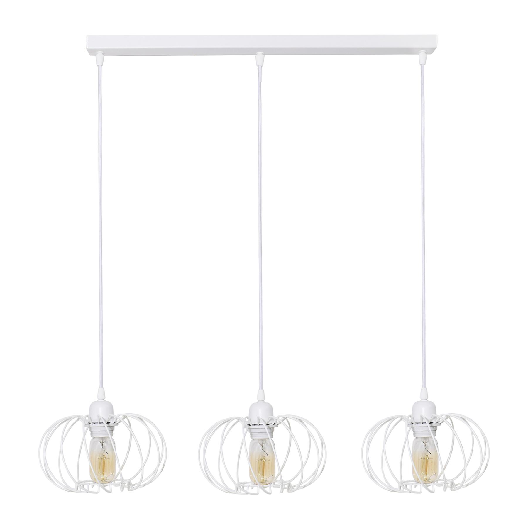 Suspension Kula, à 3 lampes, blanche